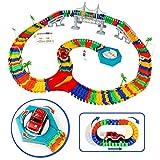Autobahn Spielzeug, Rennbahnset, Rennstrecke Spielzeug, Montage Spielzeug, Flexible Track Set für Mädchen Jungen ab 3