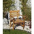 Gartenstuhl MOSEL, Eichen Rundholz, Knüppelholz von Gartenmoebel - Gartenmöbel von Du und Dein Garten