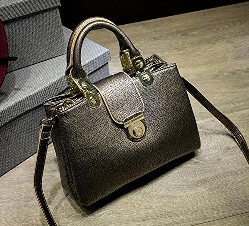 X&L Frauen's Mode Handtasche Schulter Messenger bag Gold
