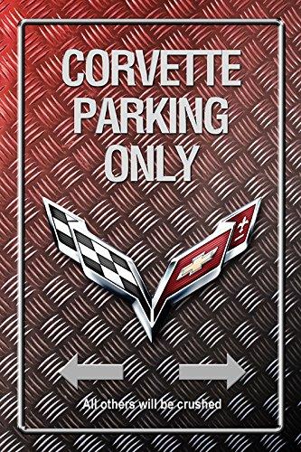 Corvette Parking only park schild tin sign Metallic schild aus blech garage