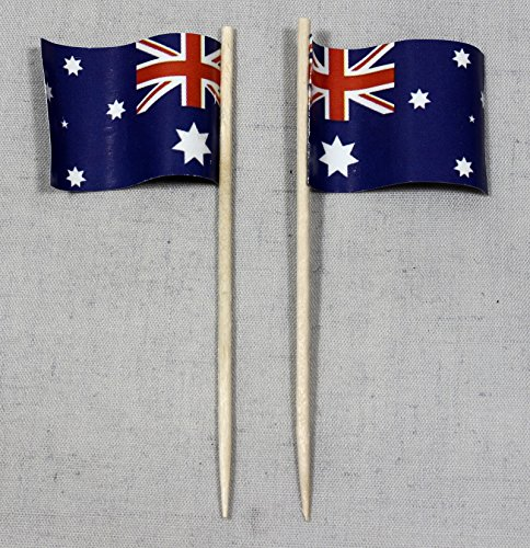 Party-Picker Flagge Australien Papierfähnchen in Profiqualität 50 Stück Beutel Offsetdruck Riesenauswahl aus eigener Herstellung