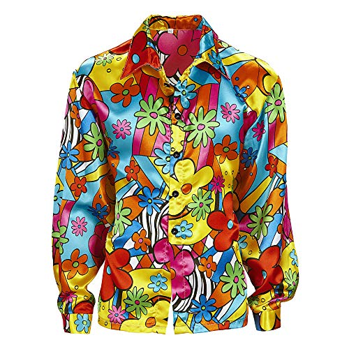 Widmann - Erwachsenenkostüm Flower Power - 60er Jahre Motto Party Kostüm