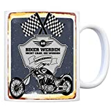 Motorradfahrer und Biker Kaffeebecher bzw. Tasse zum 60. Geburtstag als Geschenk