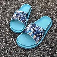 fankou Camuflaje Zapatillas Mujer Cubierta Gruesa de Verano par Zapatillas Antideslizantes, Zapatillas y Ocio,39, Cielo Azul