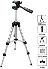 Teconica Rewy 3110 Portable 3D Head Camera Tripod with Quick Release Plate and Mobile Clip Holder