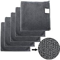 BONORUM Premium paños de Microfibra con 300 gsm (!) - Perfecto para la Limpieza de automóviles, Motocicletas o del hogar - 5 Piezas - Diseño Elegante - Muy Absorbente y Libre de Pelusas - 40 x 40 cm