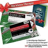 ZÄPFCHEN® Geschenk-Set: 1 - Die Kleine Therapie für Eintracht Frankfurt-Fans | Für Fans mit Eintracht Frankfurt Tasse, Eintracht Frankfurt Kaffee-Becher, Handtuch & Eintracht Fanartikel