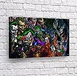 Buy4Wall The Joker Poster sur Toile Motif Batman Home Decor JKH42 8' x 12' - Ready to Hang