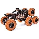 Toyshine RC Rock Climber Car, 4WD,8 Wheels Climbing Car, Off-Road Car Gift, Orange