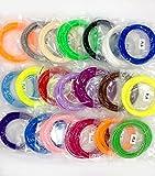 Filamento pla 20 Colori 3D Materiali Filamenti PLA (Not ABS) unici 10M ogni colore 1.75mm per la Stampa 3D/Disegno 3D Penna