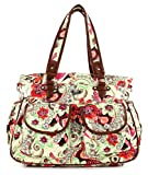 Oilily Tropical Birds Diaper Bag Off White