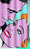 Kleine Wolke 5285148305 Kiss Duschvorhang, Polyester, Mehrfarbig, 180 x 200 x 0.2 cm