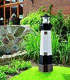 Solar Leuchtturm mit drehender Rundumleuchte 100 cm inkl. Solarpanel