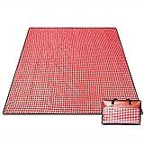 Couvertures de pique-nique Plaid Style 200 * 200 cm Pique-Nique Tapis Moistureproof Tapis En Plein Air Tapis Étanche Gazon Tapis Tissu ( Couleur : Rouge )