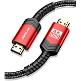 Cavo HDMI 4K 2M, JSAXU Cavo HDMI 2.0 ad Alta Velocità 18Gbps Nylon Intrecciato Supporta Ethernet, 3D, Video 4K 60 Hz, UHD 216
