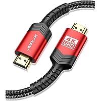 Cavo HDMI 4K 2M, JSAXU Cavo HDMI 2.0 ad Alta Velocità 18Gbps Nylon Intrecciato Supporta Ethernet, 3D, Video 4K 60 Hz…