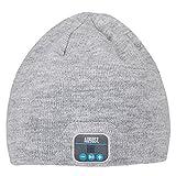 August EPA20 - Bonnet Bluetooth Stéréo - Bonnet Thermique Bluetooth avec casque Stéréo intégré, Microphone, Kit Main-Libre et Batterie rechargeable - Compatible avec Téléphones portables, iPhone, iPad