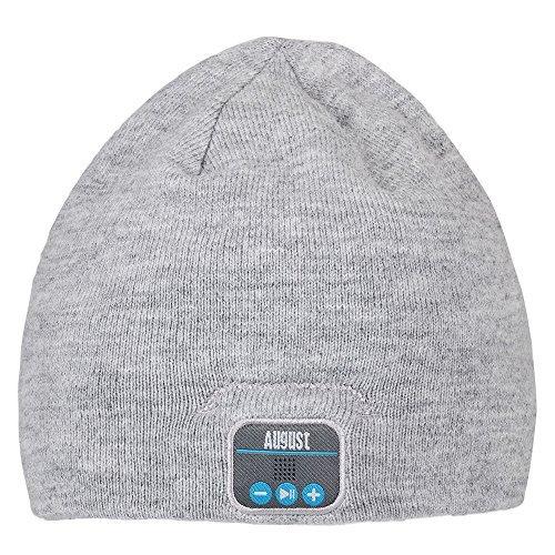 August EPA20 – Bluetooth Mütze – Winter Beanie mit Bluetooth Stereo Kopfhörer,...