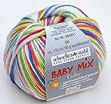 Schoeller und Stahl Wolle Baby Mix Color dk Fb. 101 daisy, Babywolle speichelecht, aus Schurwolle und Microfaser