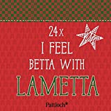 I feel betta with lametta: Mini-Kartenaufsteller