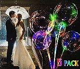 5 Stück LED Ballon, LED Transparent Ballon Zum Weihnachten Hochzeit Party Dekorationen Urlaub Mit Griff