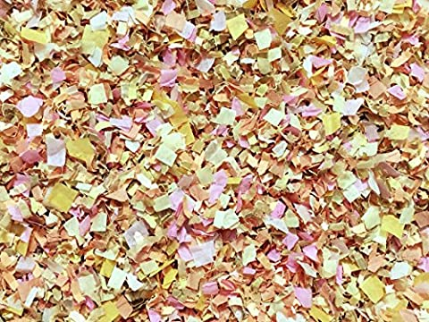 Pastel Yellow Pink Ivory Floral Biodegradable Confetti Wedding Throwing Confetti Party Decorations InsideMyNest (25