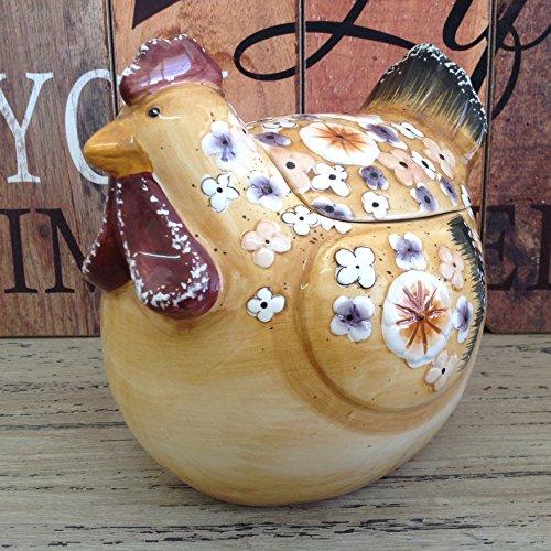 Alice 's Kollektion Keramik Cookies Topf mit Deckel Keramik-Huhn-18x 15x 16cm (Huhn Cookie)