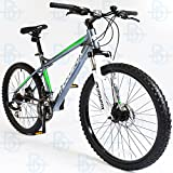 Muddyfox Toronto 26' Mens Hardtail Mountain Bike - Grey and Green - NEW RANGE