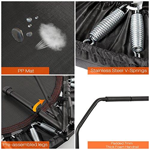 Ancheer Trampolin, Indoor Trampolin mit Handgriffe, Ideal für Fitness Heimtraining (Klappbares Trampolin) - 2