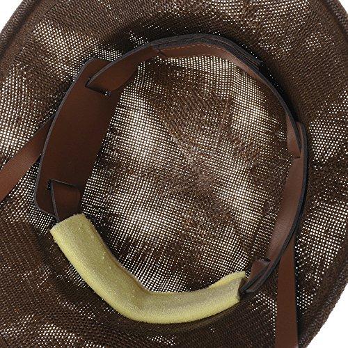 WITHMOONS Casquette de Baseball Jungle Safari Hat Pitch Meshed Helmet Boonie Bush DW8318 Marron