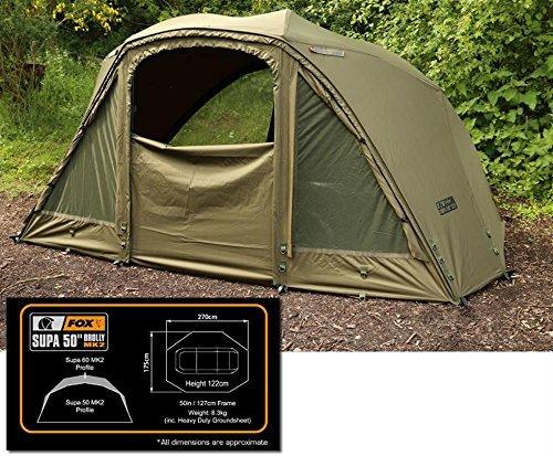 Fox Supa Brolly System 50' Karpfenzelt - Angelzelt zum Karpfenangeln, Anglerzelt, Schirmzelt, Zelt komplett