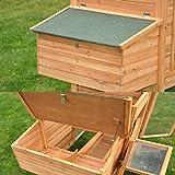 nanook Charlotte - Hühnerstall mit Freilauf, Legebox, 2 Sitzstangen, Auszugswanne - wetterfest, Größe XXL - Farbe: natur - 6