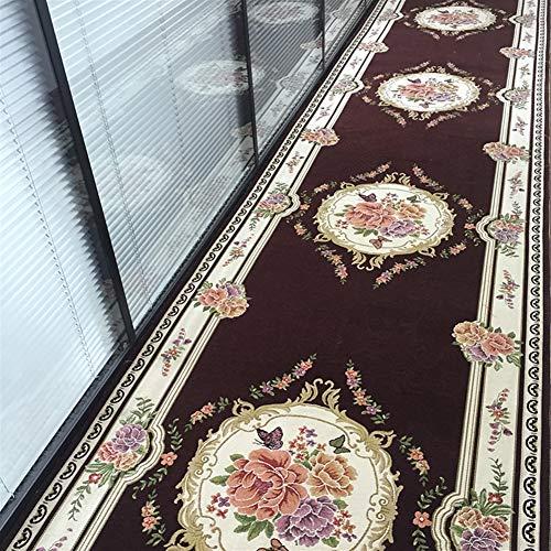 Ommda Teppich Home Flur Vintage Antiskid Küche Wohnzimmer Designer Läufer Niederflor Flurläufer 8mm Kaffee 75x180cm