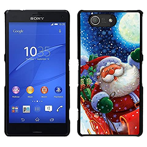 SONY XPERIA Z3 COMPACT Back Cover Shell - Cute Santa