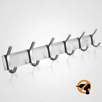 ceinter 8 hakenleiste garderobenhaken hakenleiste edelstahl wandhaken kleiderhaken wand. Black Bedroom Furniture Sets. Home Design Ideas