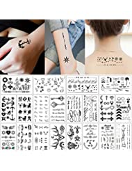 2045667fe999b 20 Sheets Fake Black Tiny Temporary Tattoo Body Sticker Hand Neck Wrist Art  Fashion