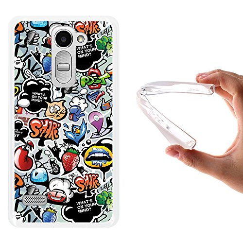 WoowCase LG Ray Hülle, Handyhülle Silikon für [ LG Ray ] Coloriertes Graffiti Handytasche Handy Cover Case Schutzhülle Flexible TPU - Transparent