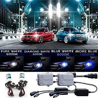 Autofather 9005(HB3) Xenon HID Umrüstsatz, Scheinwerfer Lampe 12V 55W 8000K Blau & Weiß Dunkelblau 2Leuchtmittel und 2Advanced Vorschaltgerät