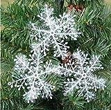 Snowflake Snow Christmas Star Star Window decorations Christmas decorations hanging Shape Table Christmas or Christmas Decorations (11cm-3pcs) -