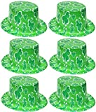6 x grün Plastik irisches Kleeblatt TOP Hut St.Patrick's Day Erwachsene Kostüm Verkleidung Zubehör