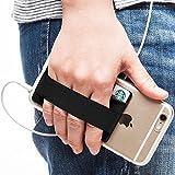 Sinjimoru Presa per Cellulare con Porta Carte di Credito, Tracolla per Smartphone Stick sul Portafoglio, Cinturino per Cellulare per Gli Smartphone. Sinji Pouch Band. Nero.