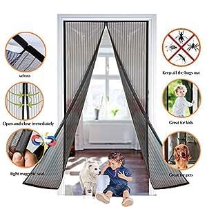 moskitonetze f r t ren pomisty magnet fliegengitter t r insektenschutz fliegengitter vorhang. Black Bedroom Furniture Sets. Home Design Ideas