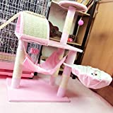 Cat Tower For Cats Tree Scratcher Climbing Rack Made Of Durable Scratch-Resistant Multifunction Detachable Toy