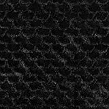 Fabulous Fabrics Kunstfell Schuppenmuster - schwarz -
