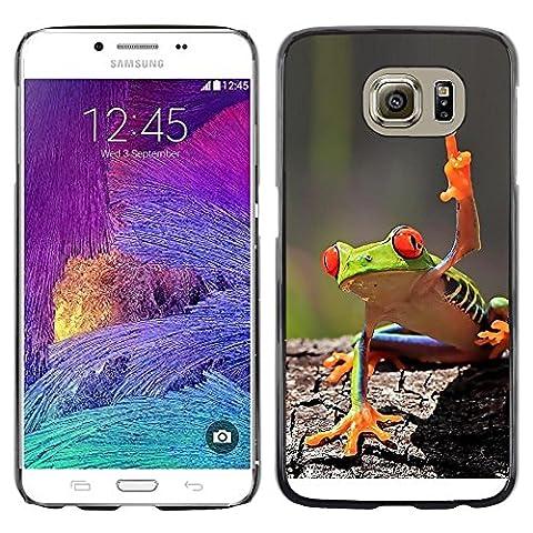 GooooStore/ Housse Etui Cas Coque - You Cool Frog Green Jungle Creature - Samsung Galaxy S6 SM-G920