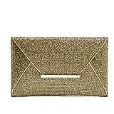 URAQT Women Glittered Evening Party Purse Envelop Clutch Handbag Fashion Lady Bag