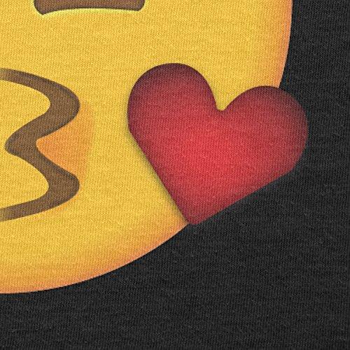Texlab–Blow Kiss Emoji–sacchetto di stoffa Nero