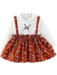 f3ddcf3e8cf6 Amazon.co.uk  Brown - Dresses   Baby Girls 0-24m  Clothing