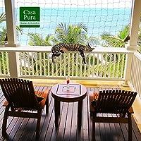 Filete gato | Red para gato | seguridad & protección de nailon resistente | sin taladrar, incluye cuerda de fijación | ventana, balcón, terraza | 2,5x 6m