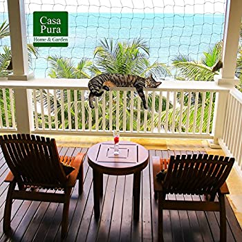 Filet Chat | Filet pour Chat | Sécurité & Protection en Nylon Résistant | Sans Percer, Livré avec Corde de Fixation | Fenêtre, Balcon, Terrasse | 2,5 x 6m